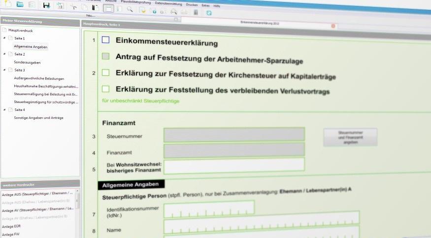 elektronische Steuererklaerung mit Hilfe von Elster Formular